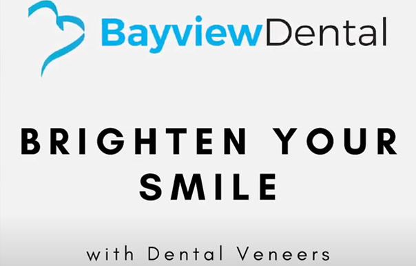Bayview Dental in Claremont Logo with text Brighten your smile with Dental Veneers